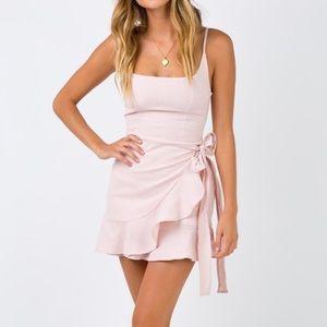 Princess polly blush/pink wrap dress